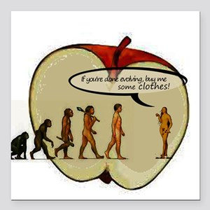 """Eve-olution of Clothes Square Car Magnet 3"""" x 3"""""""