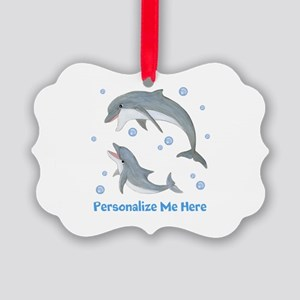 Personalized Dolphin Picture Ornament