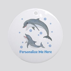 Personalized Dolphin Ornament (Round)