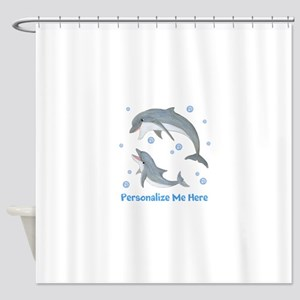 Personalized Dolphin Shower Curtain