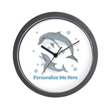 Personalized Dolphin Wall Clock