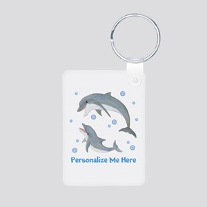 Personalized Dolphin Aluminum Photo Keychain