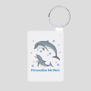 Personalized Dolphin Aluminum Photo Keychain