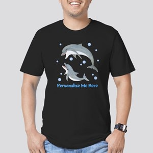 Personalized Dolphin Men's Fitted T-Shirt (dark)