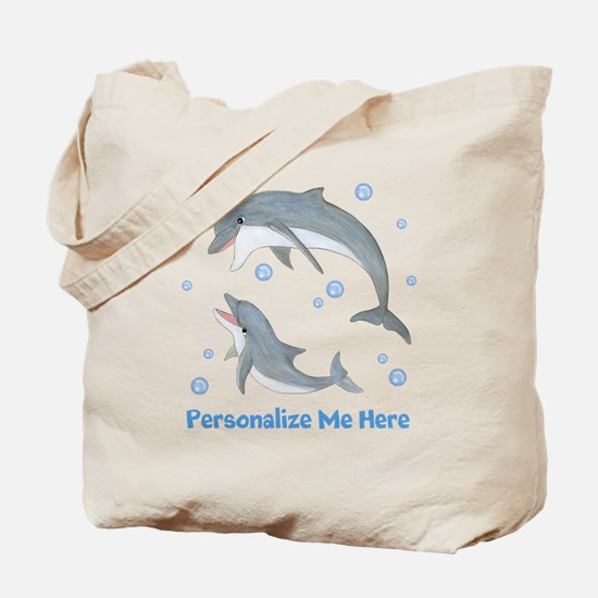 Personalized Dolphin Tote Bag