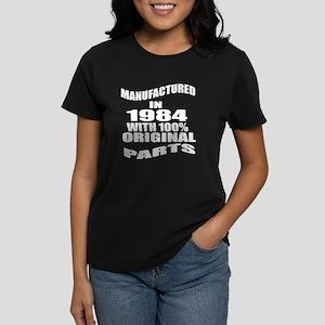 Manufactured In 1984 Women's Dark T-Shirt