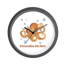 Personalized Octopus Wall Clock
