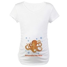 Personalized Octopus Maternity T-Shirt