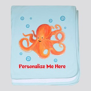 Personalized Octopus baby blanket