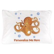 Personalized Octopus Pillow Case