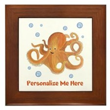 Personalized Octopus Framed Tile