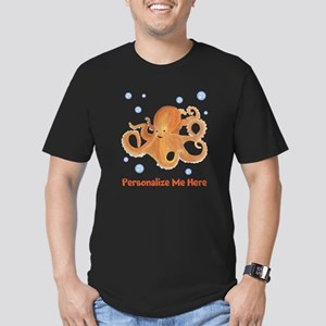 Personalized Octopus Men's Fitted T-Shirt (dark)