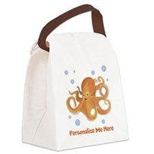 Personalized Octopus Canvas Lunch Bag