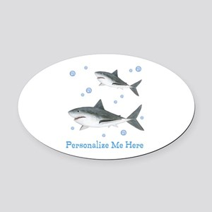 Personalized Shark Oval Car Magnet