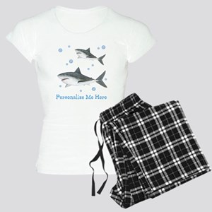 Personalized Shark Women's Light Pajamas