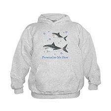 Personalized Shark Kids Hoodie
