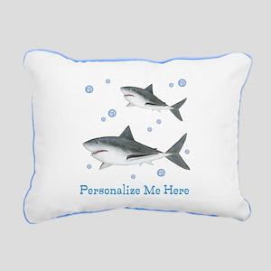 Personalized Shark Rectangular Canvas Pillow