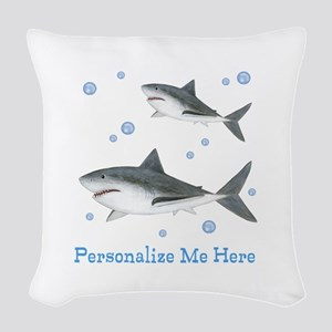 Personalized Shark Woven Throw Pillow