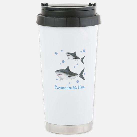 Personalized Shark Stainless Steel Travel Mug