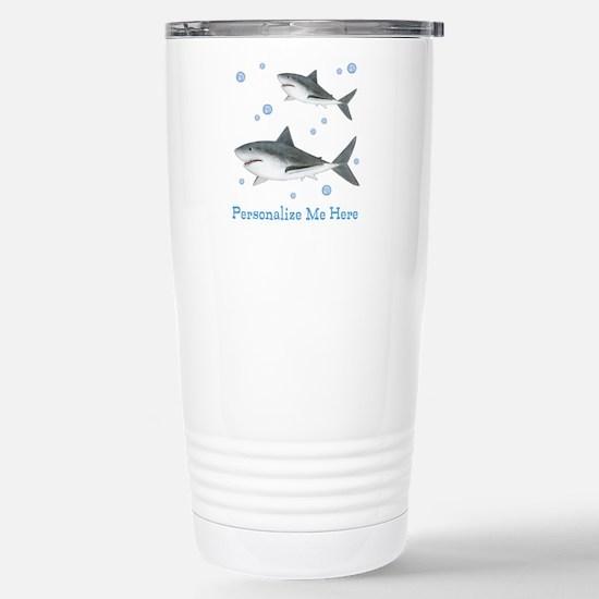Personalized Shark Stainless Steel Travel Mug