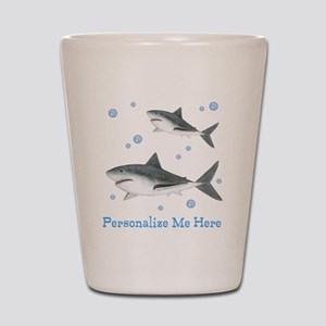 Personalized Shark Shot Glass