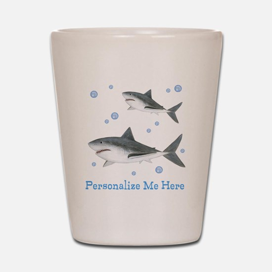 Personalized Shark Shot Glass