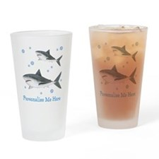 Personalized Shark Drinking Glass