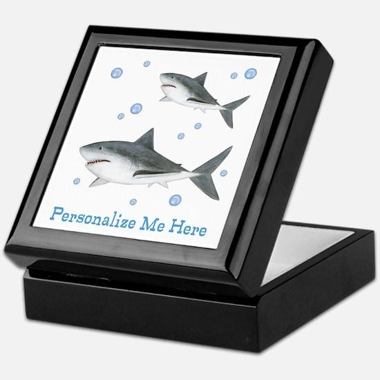 Personalized Shark Keepsake Box