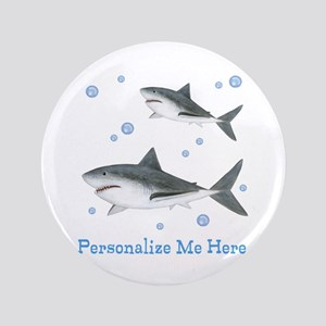 """Personalized Shark 3.5"""" Button"""