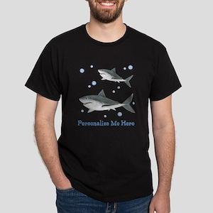 Personalized Shark Dark T-Shirt