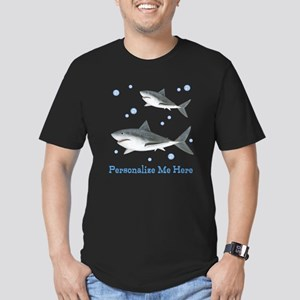 Personalized Shark Men's Fitted T-Shirt (dark)