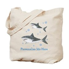 Personalized Shark Tote Bag