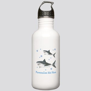 Personalized Shark Stainless Water Bottle 1.0L