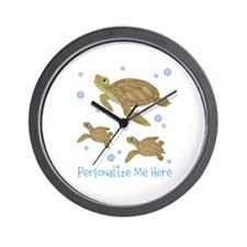 Personalized Sea Turtles Wall Clock