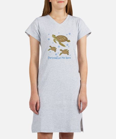 Personalized Sea Turtles Women's Nightshirt