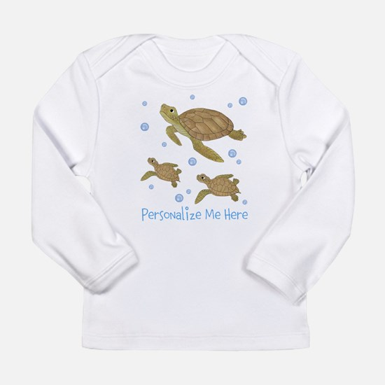 Personalized Sea Turtles Long Sleeve Infant T-Shir