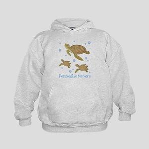 Personalized Sea Turtles Kids Hoodie