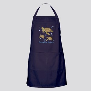 Personalized Sea Turtles Apron (dark)