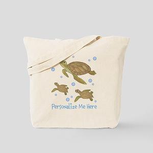 Personalized Sea Turtles Tote Bag