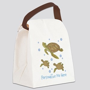 Personalized Sea Turtles Canvas Lunch Bag