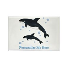 Personalized Killer Whale Rectangle Magnet