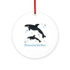 Personalized Killer Whale Ornament (Round)