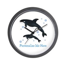 Personalized Killer Whale Wall Clock
