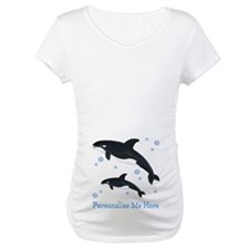 Personalized Killer Whale Maternity T-Shirt