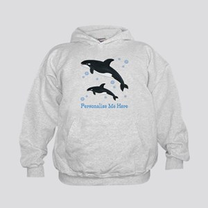 Personalized Killer Whale Kids Hoodie