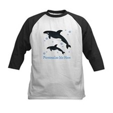 Personalized Killer Whale Kids Baseball Jersey