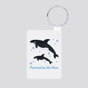 Personalized Killer Whale Aluminum Photo Keychain