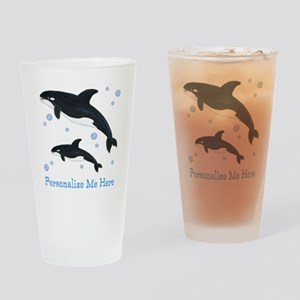 Personalized Killer Whale Drinking Glass