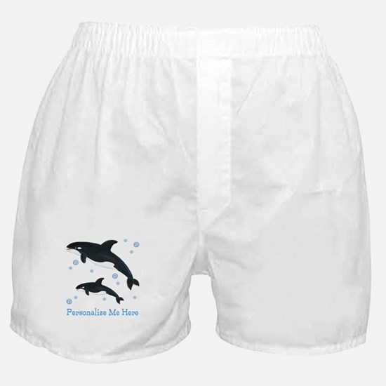 Personalized Killer Whale Boxer Shorts
