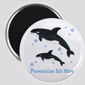 Personalized Killer Whale Magnet